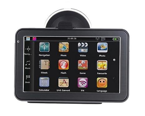 MTTLS Navegador GPS 5 pulgadas SAT NAV coche GPS de navegación con el Reino Unido y