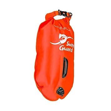 SwimGuard - Boya Boya Flotador Hinchable Ideal para triatlón 28 L Naranja: Amazon.es: Deportes y aire libre
