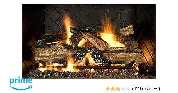 7b565d2d723 Amazon.com  Country Split Oak Vented Dual Burner Log Set for Natural Gas  Fireplace