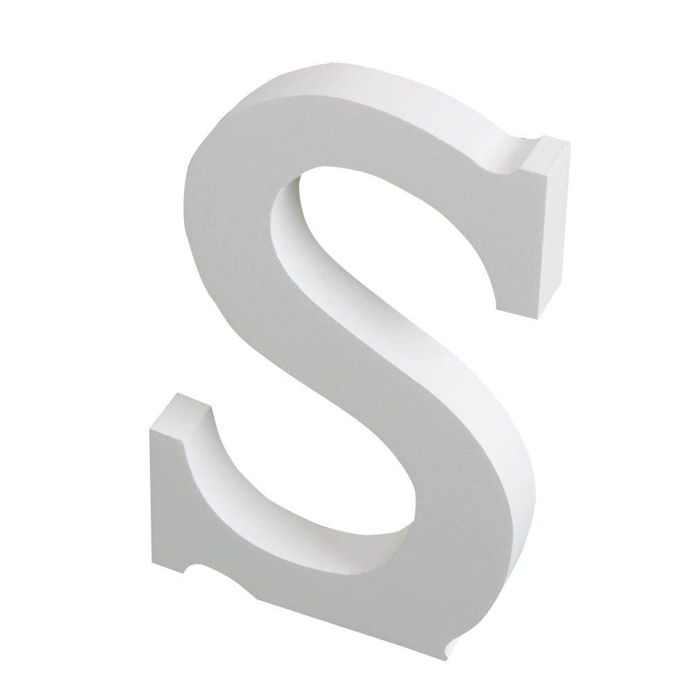 Letras de madera de Xuanle de color blanco para decoraci/ón del hogar 15 cm de alto cumplea/ños o banquetes de boda L oficina