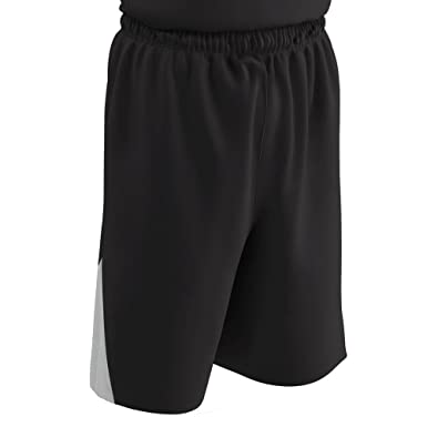 b53582c04 CHAMPRO DRI-Gear Pro-Plus Reversible Basketball Short Black, White Adult S  BBS4