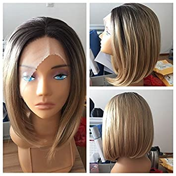 Amazon.com: White Women ombre blonde short