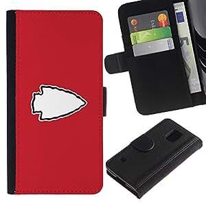 KLONGSHOP // Tirón de la caja Cartera de cuero con ranuras para tarjetas - Punta de flecha - Samsung Galaxy S5 V SM-G900 //