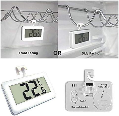 Juan Wen Digital Refrigerator Freezer Room Thermometer No Frills Simple Operation White