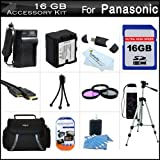 16GB Accessory Kit For HDC-TM900K 3 MOS 3D Compatible Camcorder Includes 16GB High Speed SD Memory Card + Replacement (1500Mah) VW-VBN130 Battery + Ac / DC Charger + Deluxe Case + Tripod + 3PC Filter Kit (UV-CPL-FLD) + Mini HDMI Cable + USB 2.0 Reader +