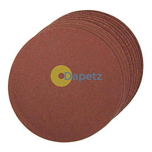 Daptez ® Self-Adhesive Sanding Discs 150mm 10pk Grit 60 Aluminium Oxide Dapetz