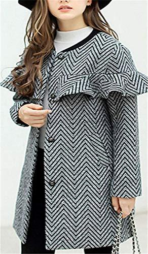 Automne Longues Vêtements Transition Chic Outerwear Volants De Noir Femme Loisir Mode Printemps Battercake Manteau Manches D'extérieur Long Coat tqRHzz
