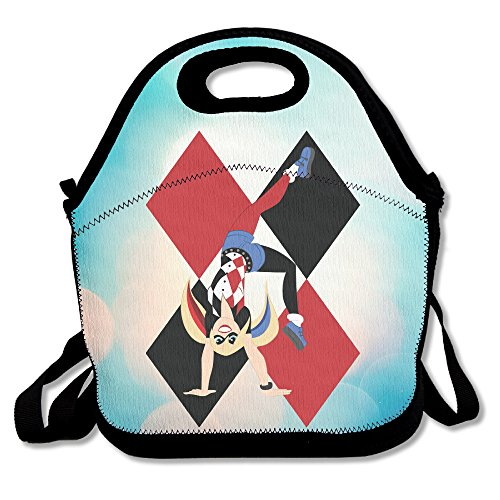 Bekey Harley Quinn Poster Lunch Tote Bag Lunch Box For Women Adults Kids Girls For Travel School Picnic Grocery Bags
