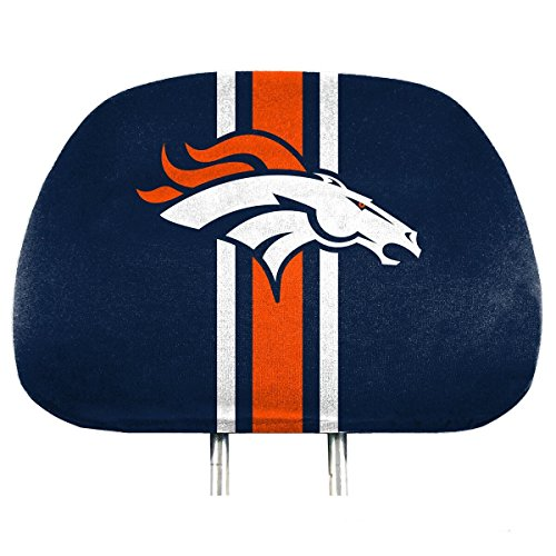 NFL Denver Broncos Full-Print Head Rest Covers, 2-Pack