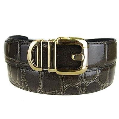 BLTBY-ALG-23 - Brown - Boys Alligator Skin Bonded Leather Belt