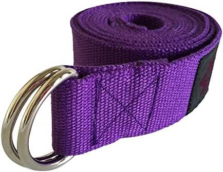 "Clever Yoga Strap 8FT or 10FT Made With The Best, Durable Cotton - Comes With Our Special ""Namaste"" (7 Colors)"