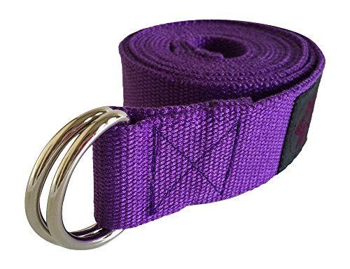 Clever Yoga 8-Foot Yoga Strap Made With The Best, Durable Cotton - Comes With Our Special