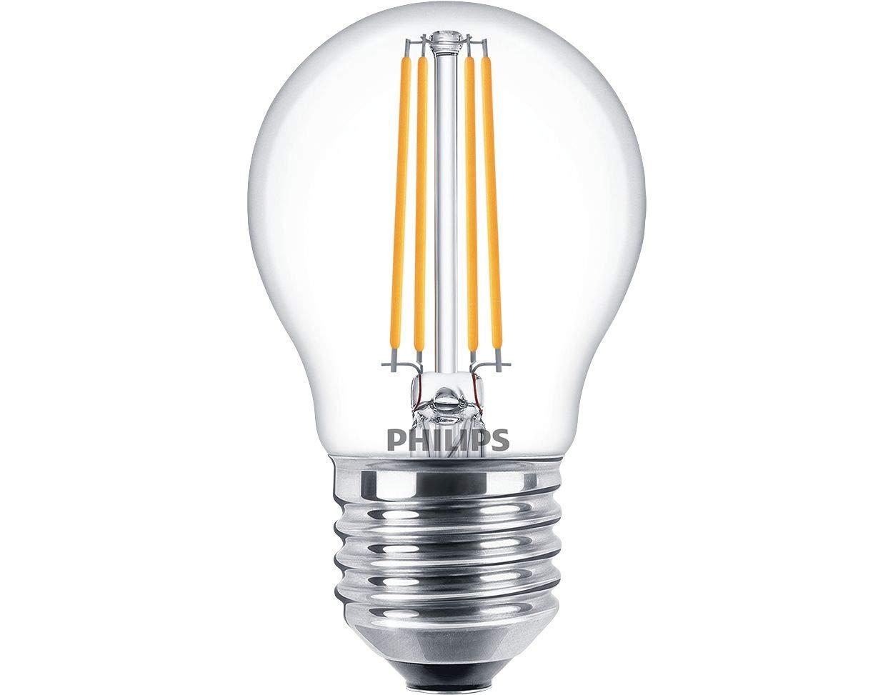 Beleuchtungsbauteile Philips Classic LEDLuster D 5 40W P45 E27 827 CL LED Lampe  Filament 8718696709924 Leuchtmittel