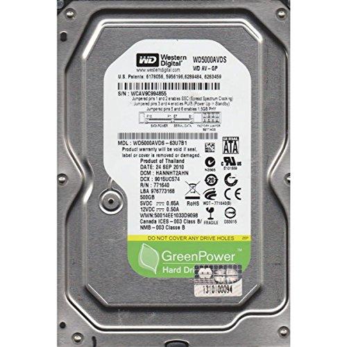 WD AV-GP 500 GB AV Hard Drive: 3.5 Inch, SATA II, 32 MB Cache (WD5000AVDS) (Old Model) - Hard Disk 500 Gb Sata