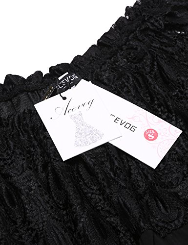 Col Femme Uni Cache Small Top Rond Noir cœur Longues Acevog À Manches Faq7T0f