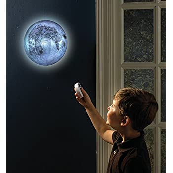 Amazon Com Indoor Led Wall Moon Lamp With Remote Control