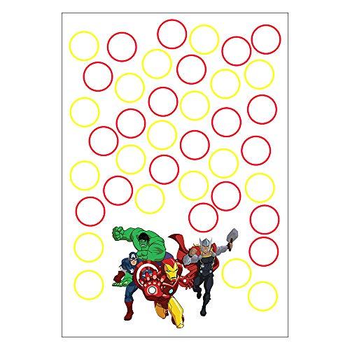Quadro de Assinaturas e Digitais Vingadores Desenho 30x43cm - 1 Unidade