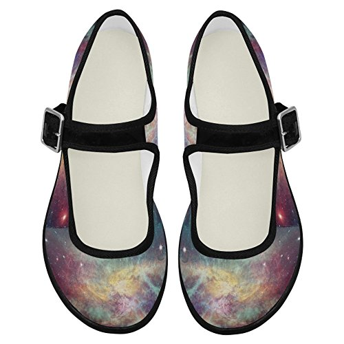 Interestprint Mujeres Comfort Mary Jane Flats Zapatos Casual Para Caminar Multi 4