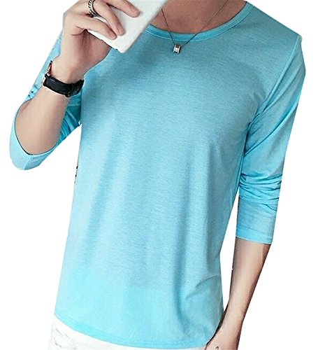 [Carterd Air Permeability Men's Solid Color Crew Neck Long-Sleeve T-Shirt 6US Large Cool item] (Morph Suite)