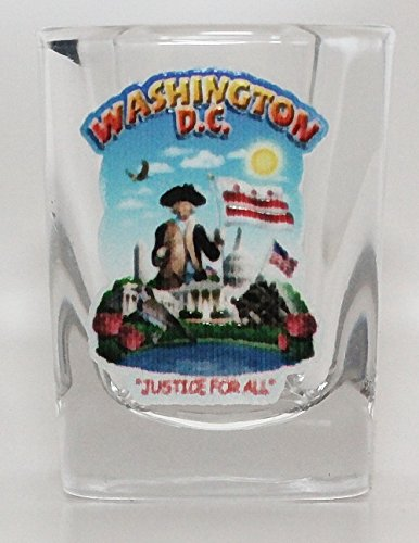 Washington D.C. Montage Square Shot Glass