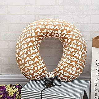 JXHJQY New U-Shaped Pillow Memory Cotton Slow Rebound u-Shaped Pillow Cute Letter u Pillow (Color : Brown)