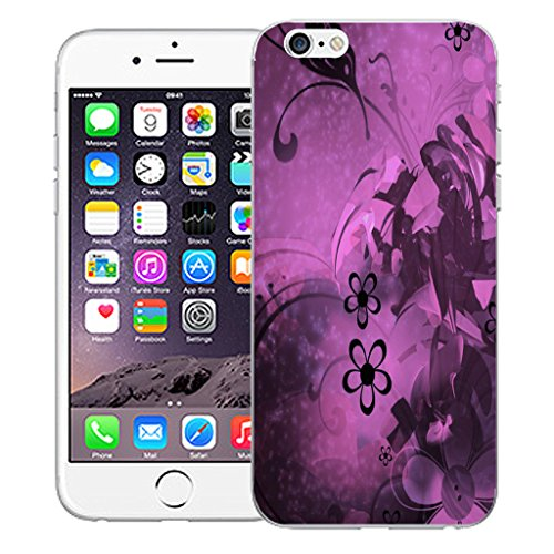 """Mobile Case Mate iPhone 6S Plus 5.5"""" Silicone Coque couverture case cover Pare-chocs + STYLET - Midnight Bloom pattern (SILICON)"""