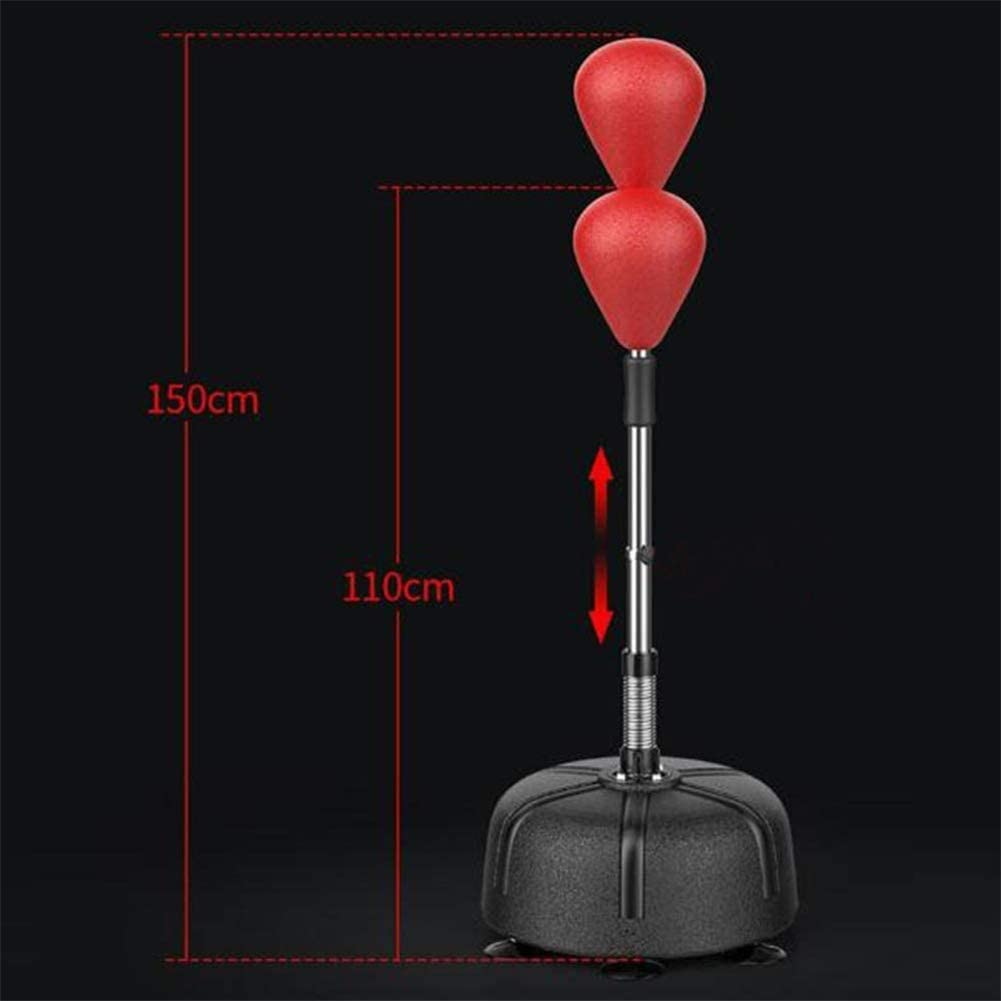 ALTINOVO Punching Bag With Stand,Free Standing Punch Bag Speed Ball Adjustable Height Freestanding For Teenagers Or Adults To Lose Weight Enhance Physical Fitness,Red