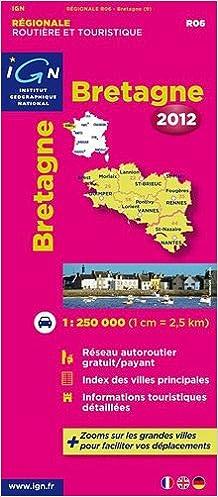 Livres gratuits en ligne R06 BRETAGNE 2012  1/250.000 pdf