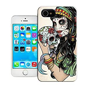 TYH - Unique Phone Case Skeleton skull head arts map SetWidth4sugar skull large Hard Cover for iPhone 4/4s cases-buythecase ending phone case