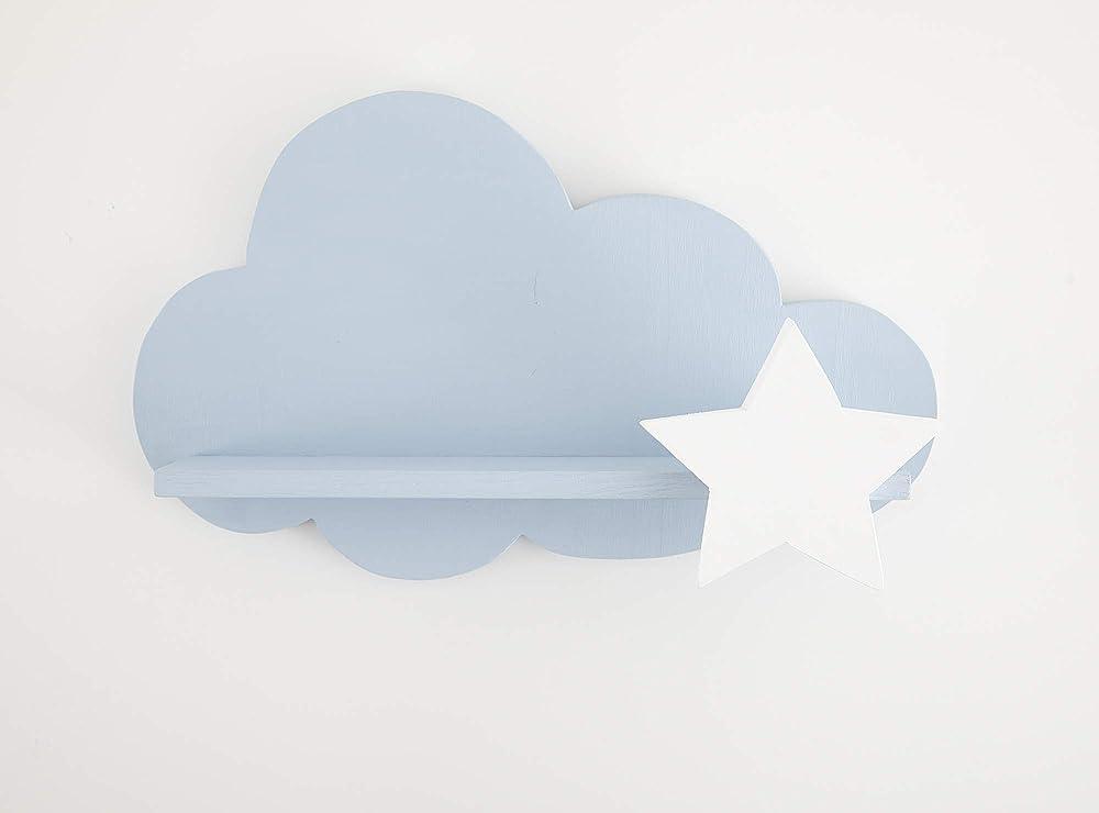 Nube Estantería Azul con Estrella Blanca: Amazon.es ...