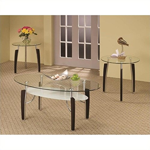 Glass Occasional Coffee Table (Coaster 701558 3-Piece Occasional Table Set with Glass)