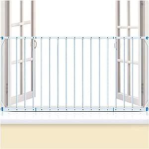 NOOYC Puerta de Seguridad para Las Puertas, sin taladrar Extra Estrecha 165-230cm Barrera Seguridad Bebé Puerta de la Escalera metálica de Gran Altura, para Puertas y Escaleras,105-114cm: Amazon.es: Hogar
