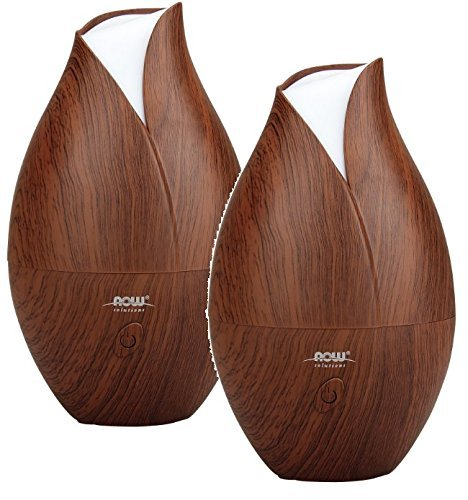 Now Foods Ultrasonic Wood Grain Oil Diffuser (Pack of 2)