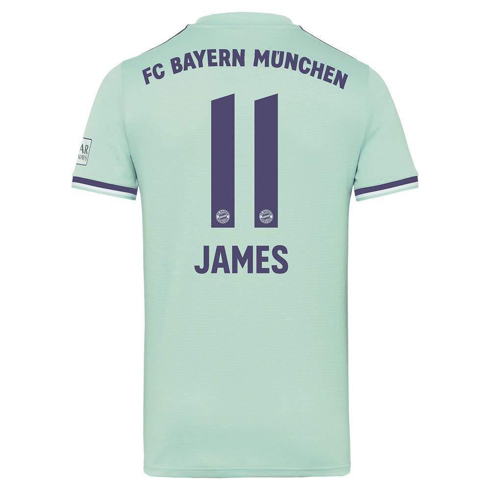 big sale 71e09 eb264 Amazon.com: adidas Bayern Munich Away James 11 Jersey 2018 ...