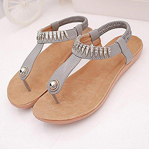 Planas Libre De Mujeres Zapatos De Mujer Las Del Aire Peep De Toe Gris Ocio Sandalias La Bohemia Sandalias Los Internet Al IFcAq