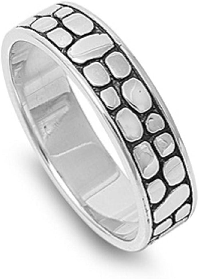 Princess Kylie 925 Sterling Silver Polished Fashion Designer Art Ring