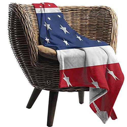"Big datastore Blanket Abstract,American Flag Stripe Stars Microfiber Blanket Queen Size:35""x60"""