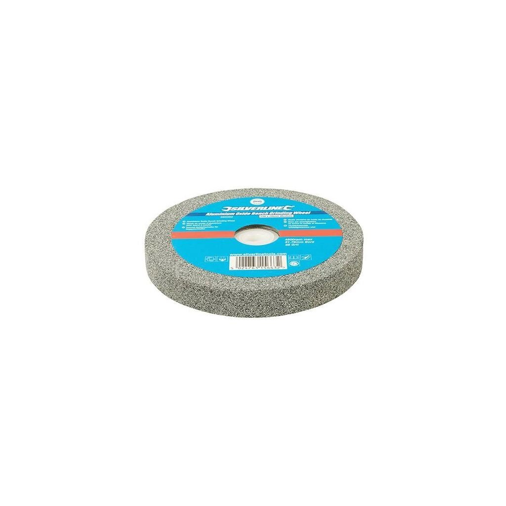 Silverline 390392 muela de ó xido de aluminio para esmeriladora de banco (, 0 V, Gris 0V