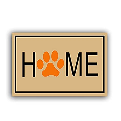 Home Dog Paw Prints Entry Way Outdoor Door Mat,Non Slip Rubber  Backed,18u0026quot