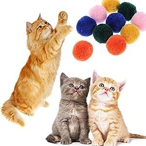Everpert 12 pelotas de peluche para gatos y gatos, para masticar: Amazon.es: Productos para mascotas