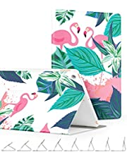 GVIEWIN Compatible for iPad case 9.7 inch 2018/2017, Slim Lightweight Anti-Scratch Shell Adjust Stand with Auto Sleep/Wake, Back Protector Cover for iPad 9.7 5th/6th Generation