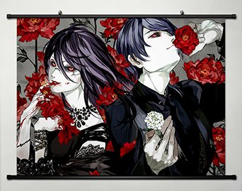 Tokyo Ghoul Wall Scroll Poster Fabric Painting For Anime Shu