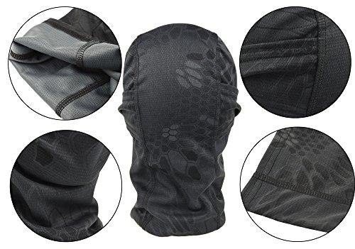 DCCN Cagoule Masque de Visage Tactique Tête Protecteur Tour de Cou pour Camouflage Moto Ski Snow Surf Cyclisme Escalade… 3