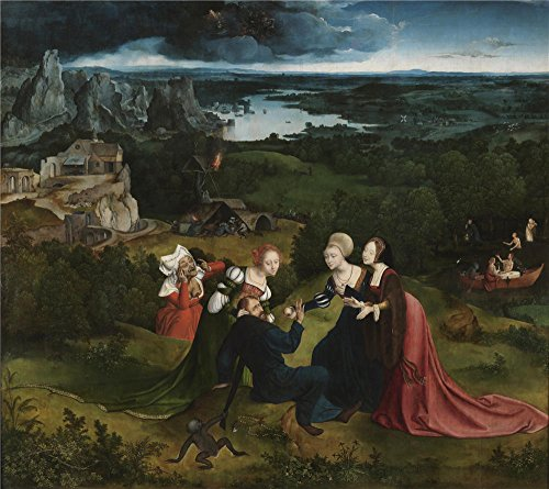 Perfect Effect Canvas ,the Best Price Art Decorative Prints On Canvas Of Oil Painting 'Massys Quentin Patenier Joachim The Temptations Of Saint Anthony The Abbot 1515 22 ', 10 X (Lighting Strike Halloween Costume)