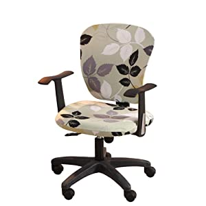 Jinzio Computer Office Chair Cover - Split Protective & Stretchable Cloth Polyester Universal Desk Task Chair Chair Covers Stretch Rotating Chair Slipcover, Style 01