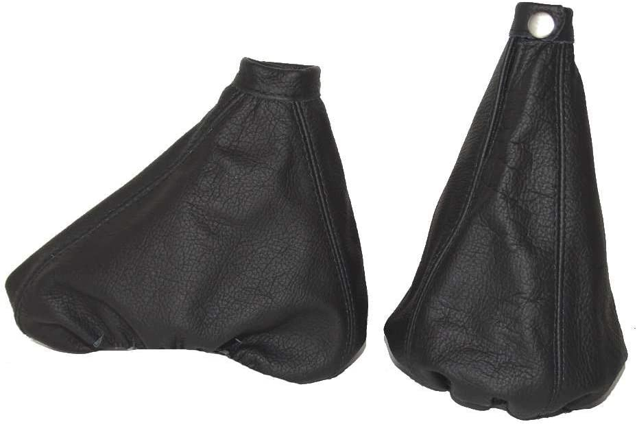 The Tuning-Shop Ltd For Alfa Romeo 156 Fl 2003-05 Shift & E Brake Boot Black Italian Leather