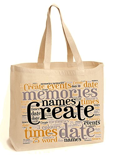 Use required Shopping College Own Create Your Tote Personalised Books Shoulder details Art Everyday Word Bag For HZzA4Zxqw