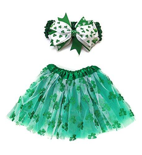 (Rush Dance Ballerina Lime Green St Patrick's Day Shamrock Clover Tutu &)