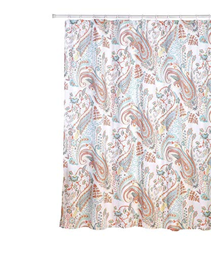 "Zoey Fabric Shower Curtain, Paisley Floral Print, 70""x70"" for sale  Delivered anywhere in USA"