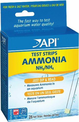 API AMMONIA TEST STRIPS Freshwater and Saltwater Aquarium Water Test Strips 25-Test (Ammonia Test)